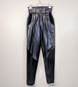 Pants - High Waist Leather & Suede Pants